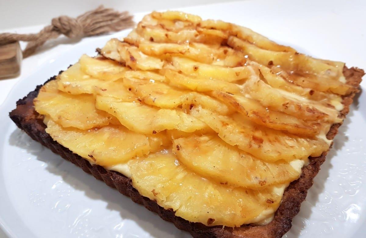 tarte ananas et noix de coco sans gluten lait sucre levure avec ou sans oeufs la table des